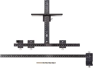 product image for Original Cabinet Hardware Jig with Extended Ruler for Rapid Drawer Centering - Adjustable Drill Guide for Installation of Door and Drawer Front Knobs and Handles - True Position Tools - TP-1934E