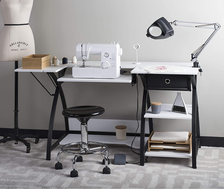Studio Designs 13333 Comet Sewing Desk with Drawer, Black/White - Comet Couture Bureau Avec Tiroir Inc 13333.0