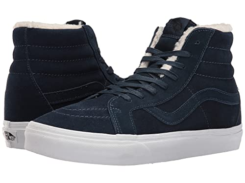 Vans Men's Sk8 Hi(Tm) Core Classics (13.5 B(M) US Women 12 D(M) US Men, (Suede) Dress Blue)