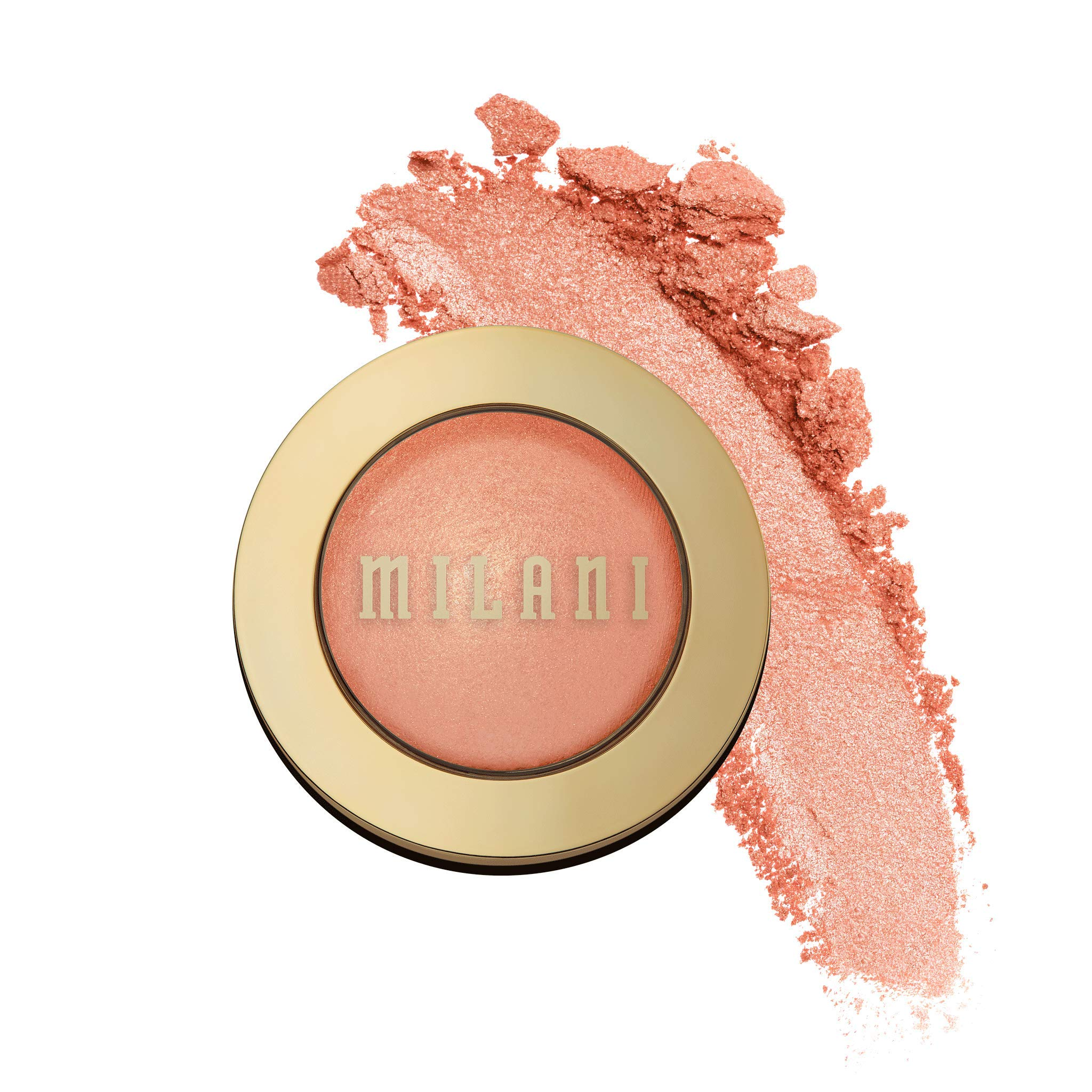 Milani Baked Blush - Luminoso (0.12 Ounce) Cruelty-Free Powder Blush - Shape, Contour & Highlight Face for a Shimmery or Matte Finish