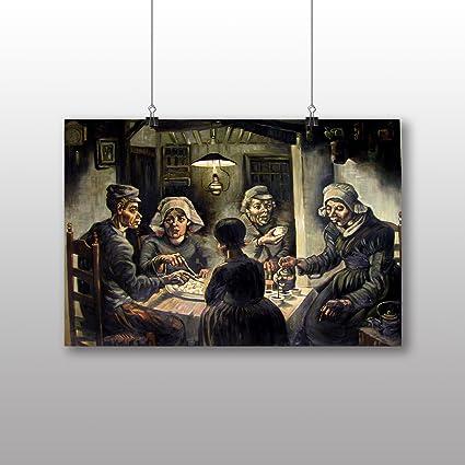 Póster de Vincent Van Gogh comedores de patatas - varios tamaños ...