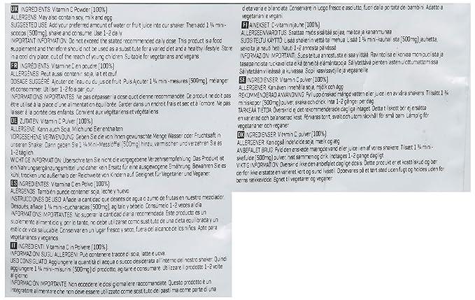 MyProtein Powder Vitamina C en Polvo - 100 gr: Amazon.es: Salud y cuidado personal
