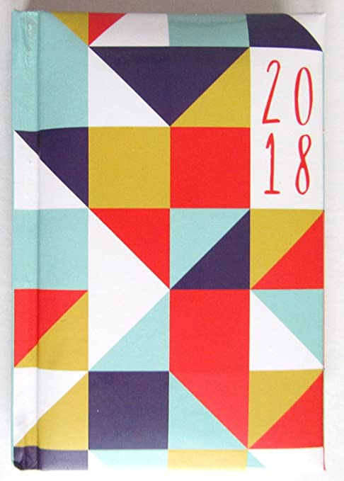 2018 agenda semana para ver acolchada, de triángulos ...