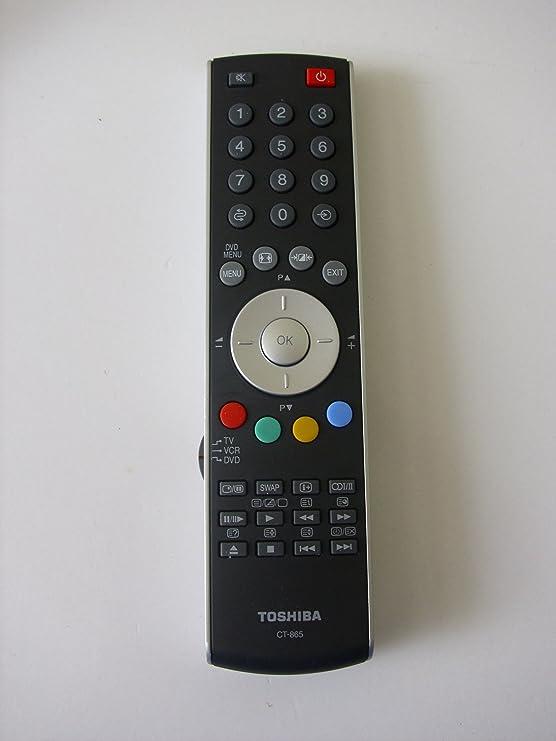 genuine toshiba ct 865 tv dvd remote control for amazon co uk rh amazon co uk toshiba 20vl63 manual