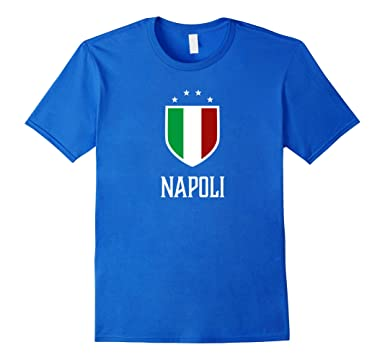 Mens Napoli, Italy - Italian Italia T-shirt 2XL Royal Blue
