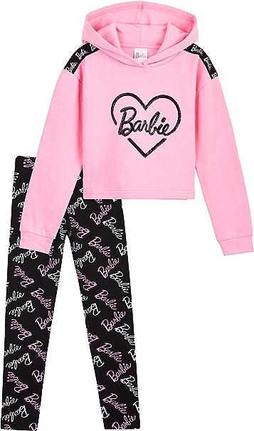 Barbie Felpe Ragazza, Abbigliamento Bambina in Cotone con Felpa