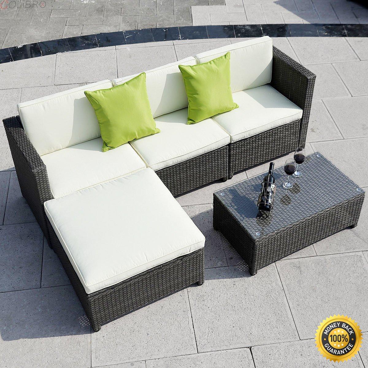 Amazon.com : COLIBROX-- 5PC Outdoor Patio Sofa Set Furniture PE ...