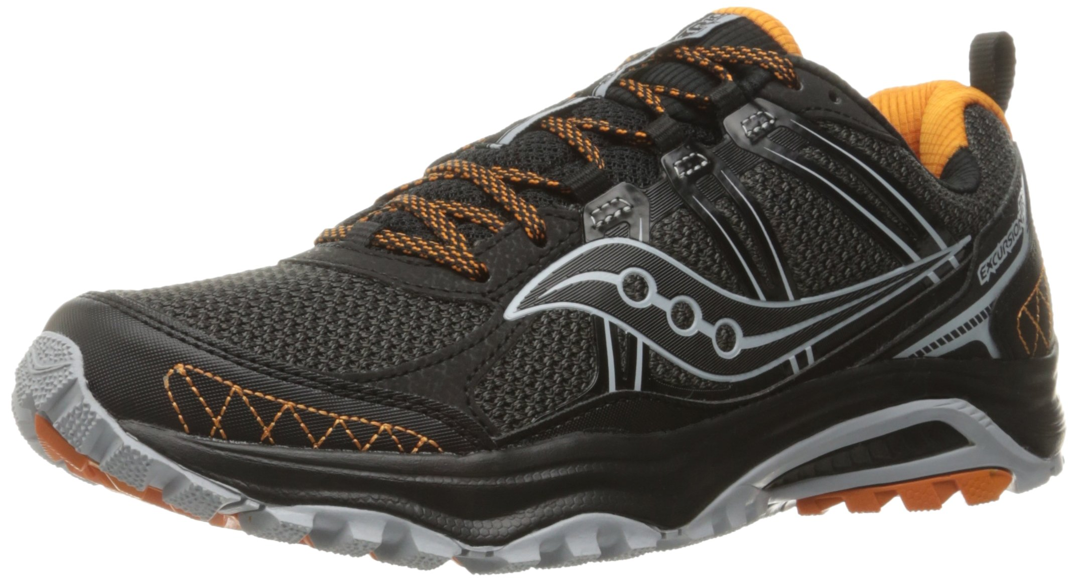 Saucony Men's Grid Excursion tr10 Trail Runner Grey/Black/Orange 8 M US