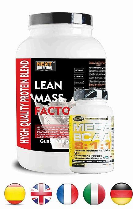 Proteína y BCAA 811 | 2 suplementos | Protein gr 1000 Taste Vainilla sin aspartamo con