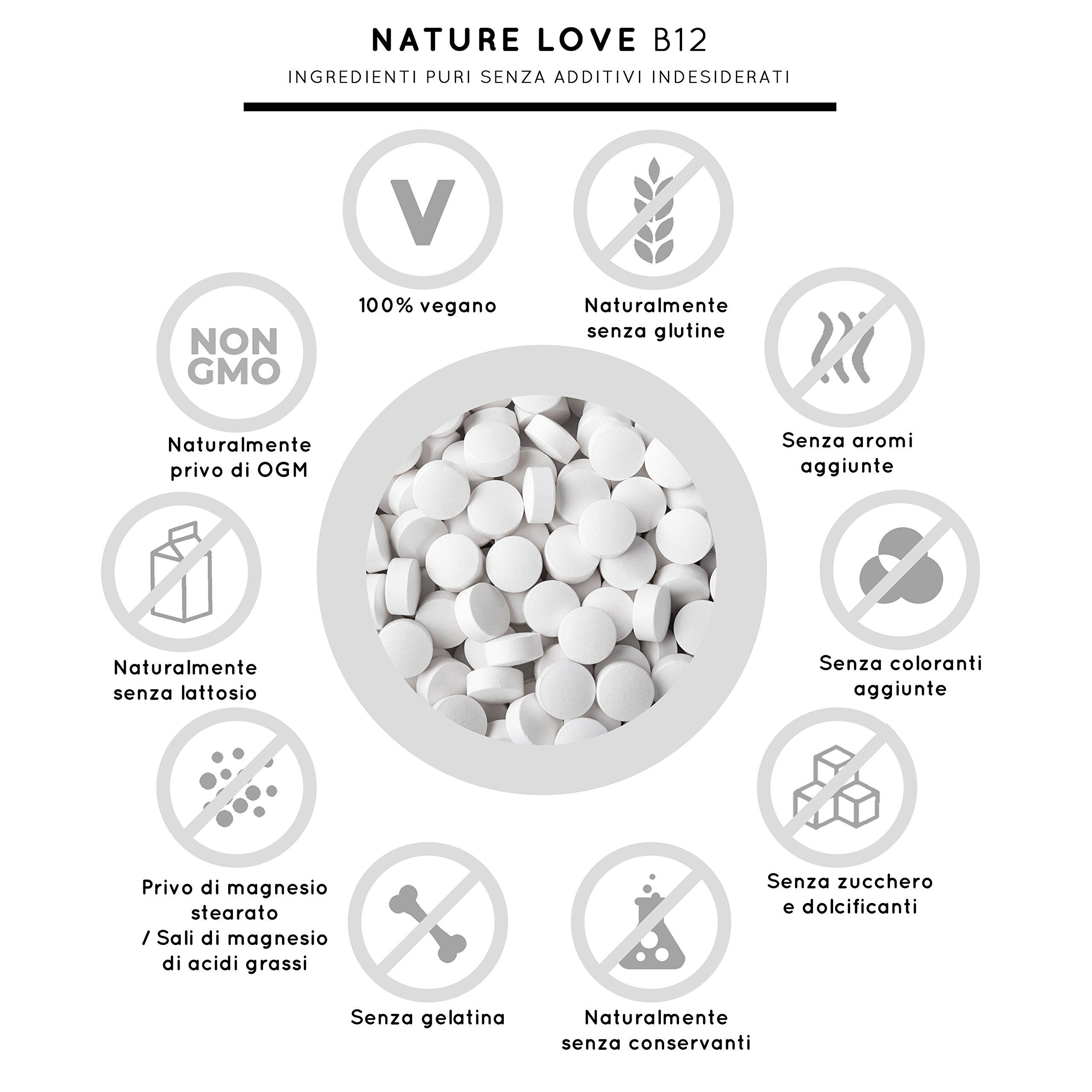 Vitamina B12 - 1000 µg (mcg). 180 compresse. Entrambe le forme bioattive del B12: metilcobalamina e adenosilcobalamina. Con acido folico bioattiva: folati. Con riserve che durano sei mesi. Senza magnesio stearato. Vegano, alto dosaggio, esa