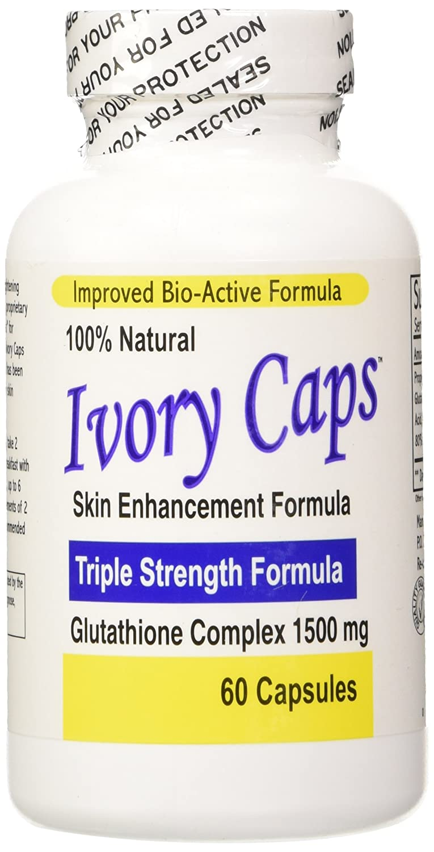 12 Pack -Ivory Caps - Maximum Potency Glutathione 1500