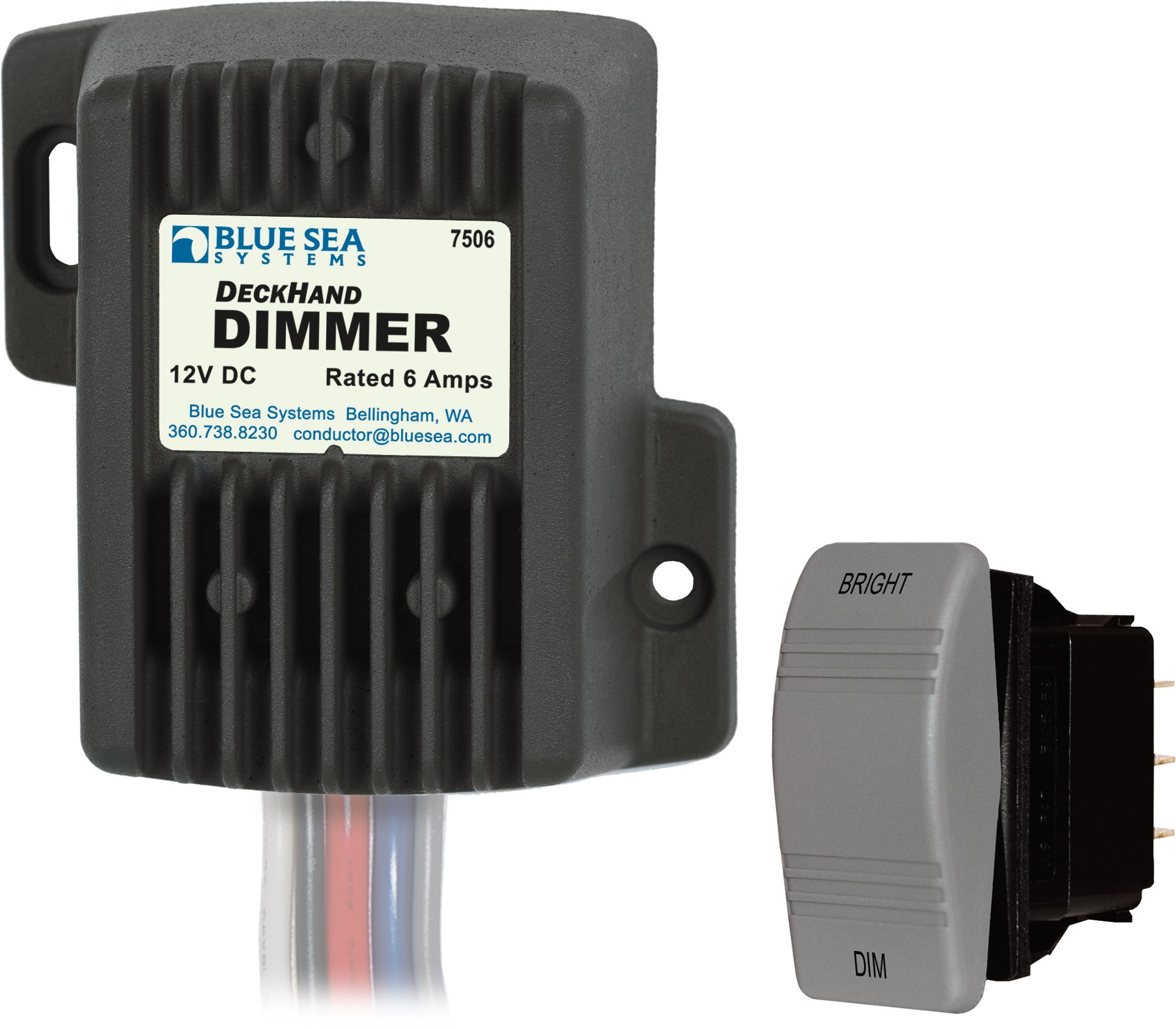 Blue Sea Systems 12V DC 6A Deckhand Dimmer