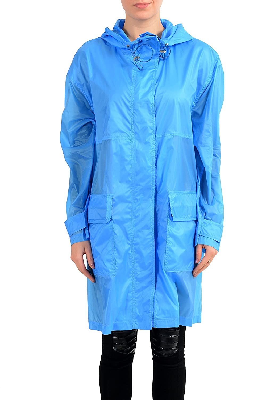 Versace Collection Blue Women's Rain Coat US S IT 40 Women's Clothing Coats, Jackets & Vests