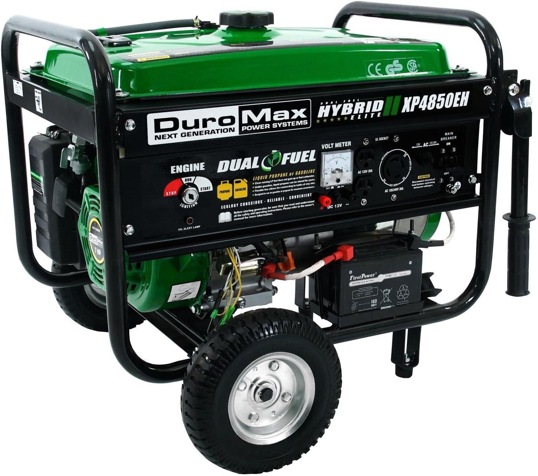 Amazon.com: duromax xp4850eh Hybrid Dual Fuel propano/de gas ...