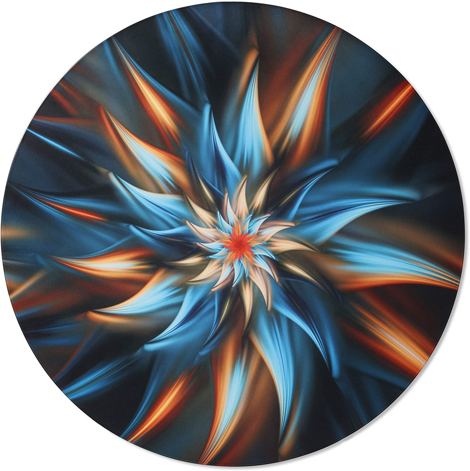 Metal Wall Art - Abstract Swirl Round Hanging Wall Decor - Handmade in the USA for Use Indoors or Outdoors