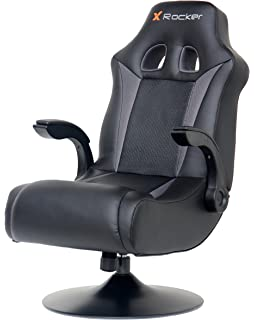 X Rocker 5128301 2.1 Wireless Bluetooth Audi Pedestal Video Gaming Chair, Black