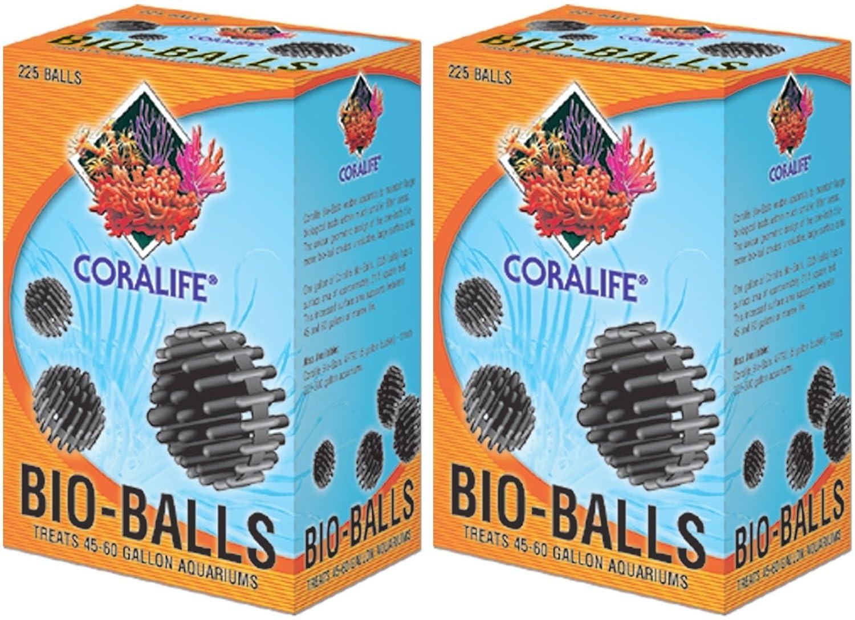 2 Boxes Coralife (Energy Savers) ACLAF791 1-Inch Mini Bio-Ball, 1-Gallon, 225 Per Box (2 Boxes)