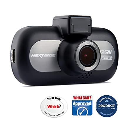 b249ea818fb Nextbase 412GW - Full 1440p QUAD HD In-Car Dash Camera DVR - 140° Viewing  Angle - WiFi and GPS - Black  Amazon.co.uk  Electronics