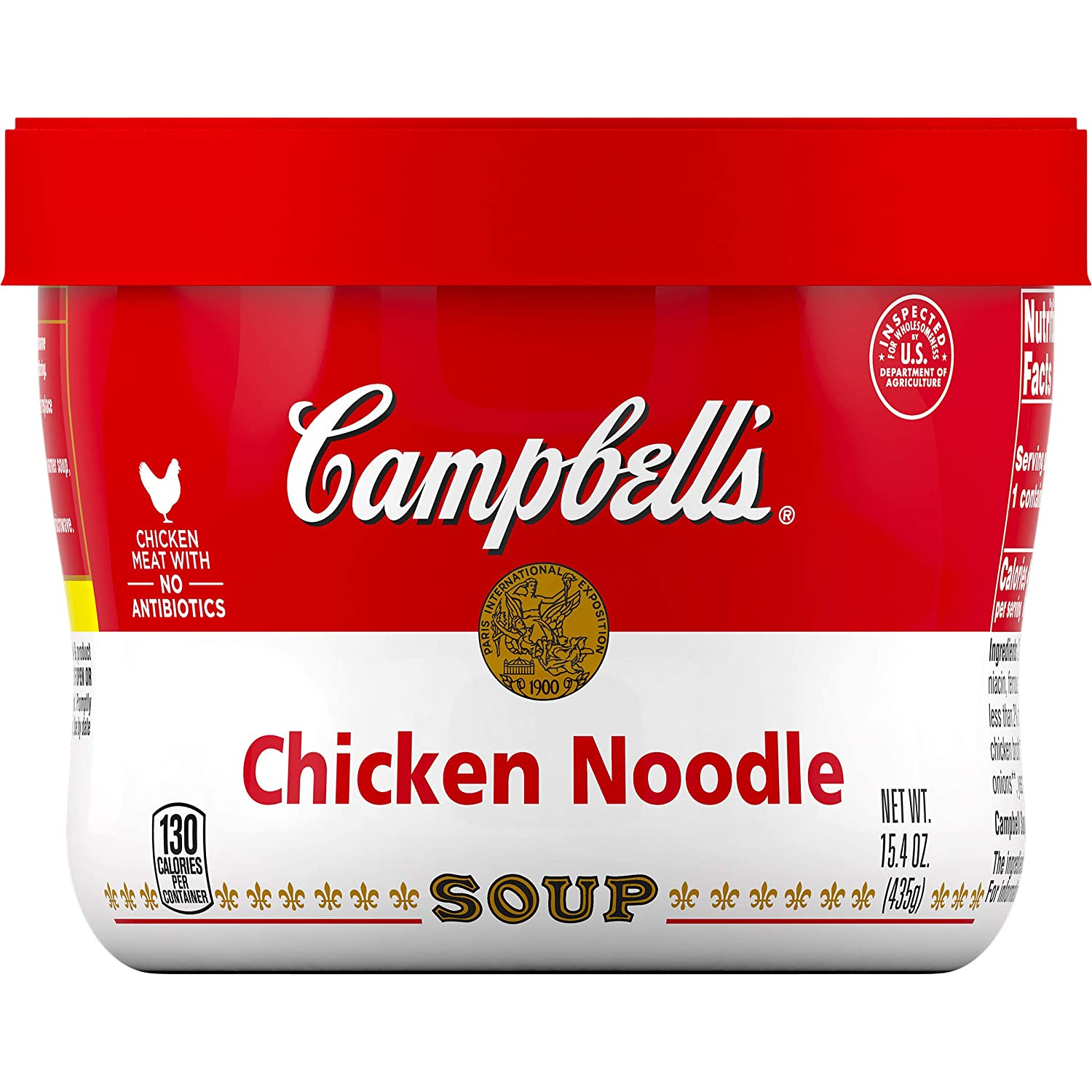 Campbell's Chicken Noodle Soup Microwavable Bowl, 15.4 oz.