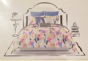 Kate Spade Full/Queen Comforter Set, Paintball Floral, 3 Pc Set