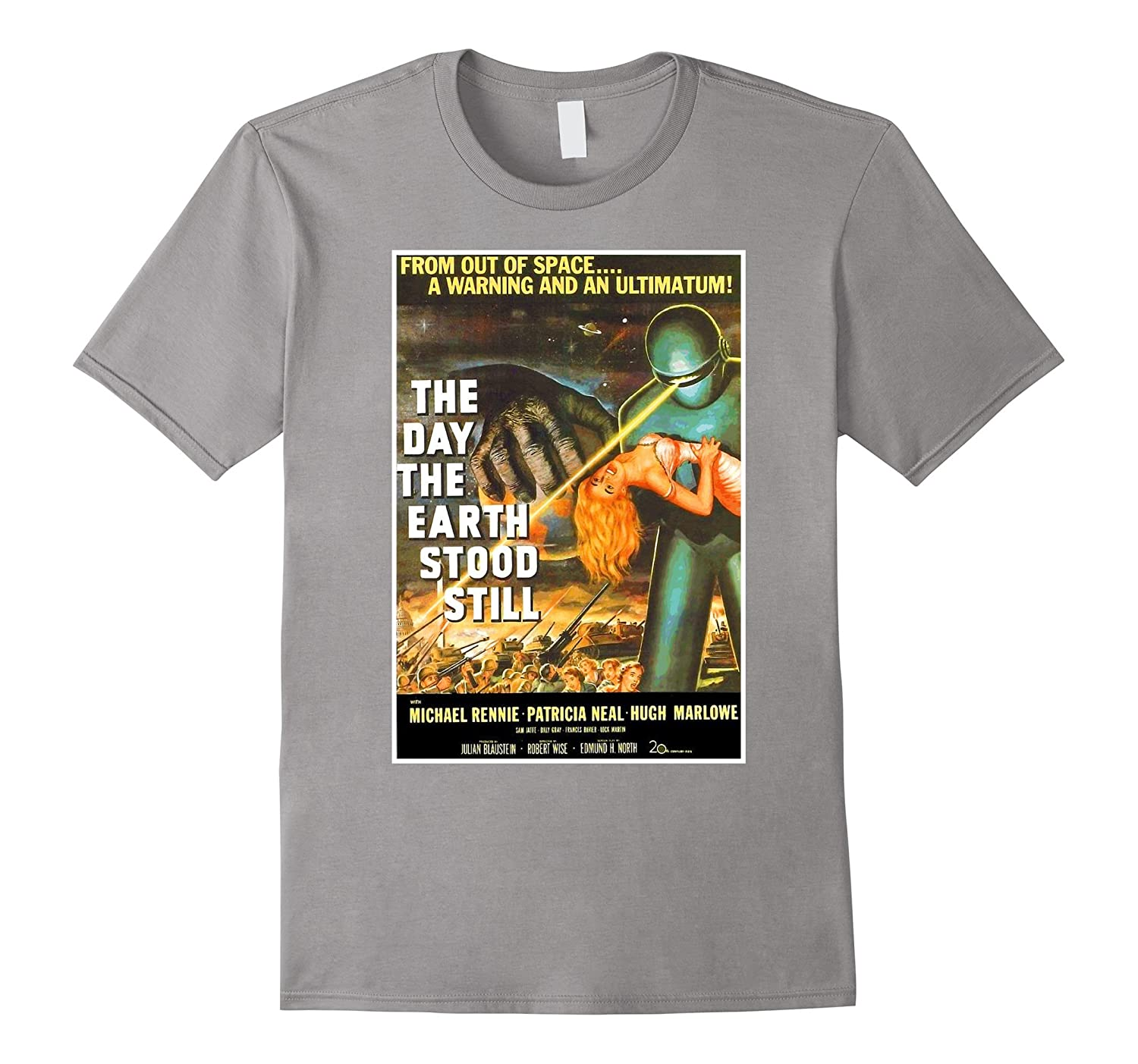 Sci Fi Robot Halloween T-Shirt Earth Invasion Tee Shirt-FL
