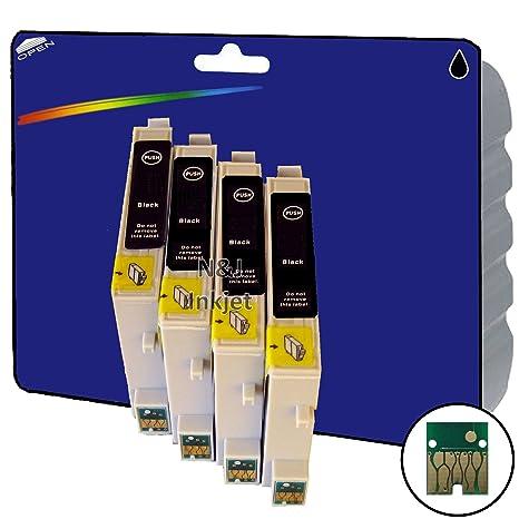 4 de color negro non-original XL Cartuchos de tinta para Epson ...