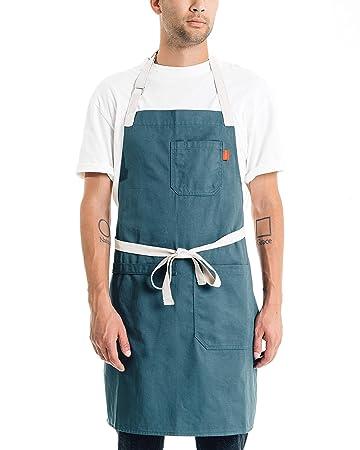 Amazon.com: Caldo - Delantal de cocina de algodón para ...