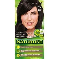 Naturtint Permanent Hair Color 2N Brown Black (Pack of 1), Ammonia Free, Vegan,...