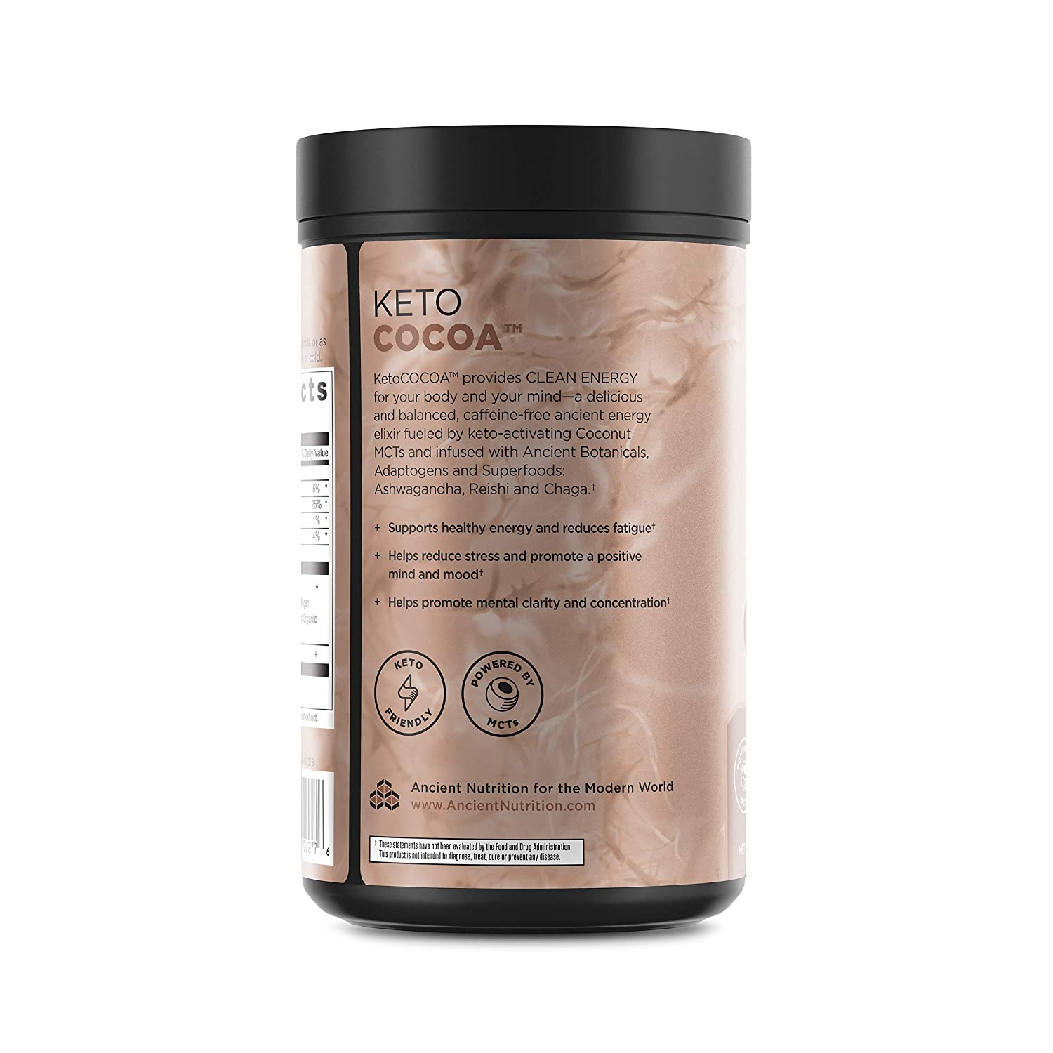 Amazon.com: Ancient Nutrition KetoCOCOA Energy Elixir Powder, 20 Servings, Keto Diet Supplement, Hydrolyzed Collagen Peptides, MCTs from Coconut, ...