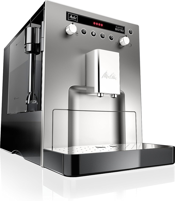 Melitta Caffeo Bistro E 960-107 - Cafetera, color plateado: Amazon ...