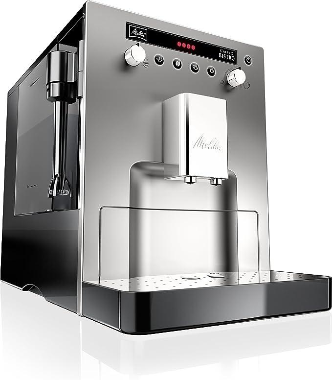 Melitta Caffeo Bistro E 960-107 - Cafetera, color plateado: Amazon.es: Hogar