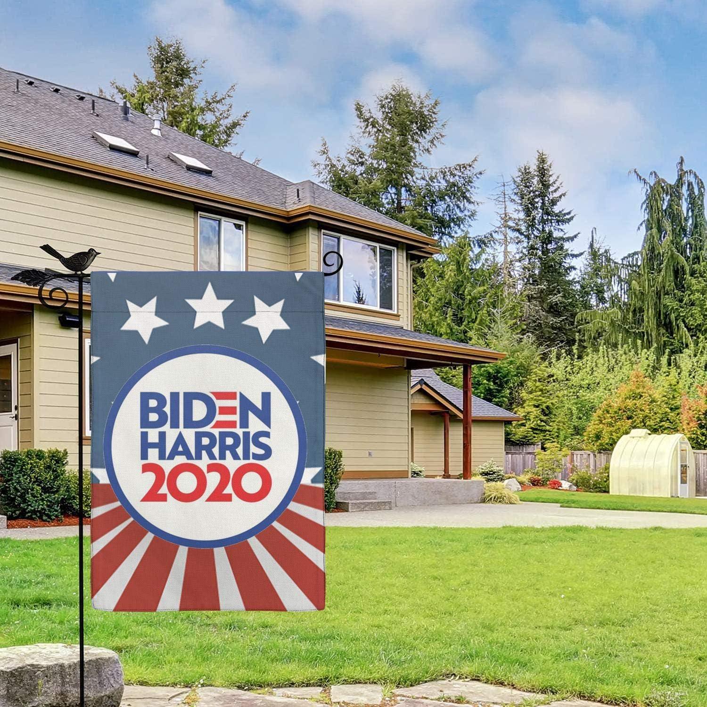 Univeins Biden Harris 2020 President Garden Flag,Double Sided Premium Fabric,Outdoor Decoration Banner for Yard Lawn 12 X 18 Inch