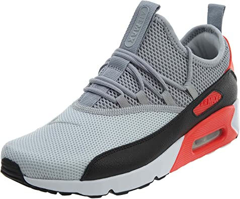 Nike Mens Air Max 90 EZ Running Shoes Pure PlatinumWolf GreyBlackInfrared AO1745 002 Size 10