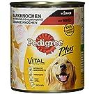 Pedigree Plus Hundefutter Nassfutter mit Markknochen und Rind in Sauce