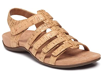 b81f42dcaa60 Amazon.com  Vionic Women s Rest Harissa Backstrap Fisherman Walking Sandals  - Adjustable Gladiator Sandal with Concealed Orthotic Arch Support  Shoes