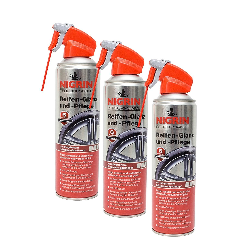 Nigrin 3X 73896 Performance Reifen-Glanz und -Pflege 500 ml