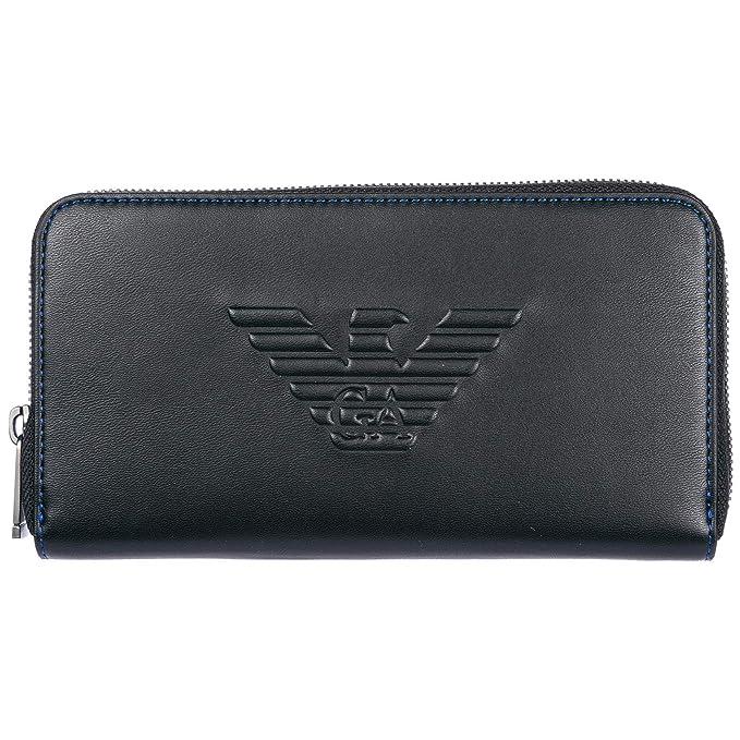 Emporio Armani monedero cartera bifold de hombre nuevo negro: Amazon.es: Ropa y accesorios