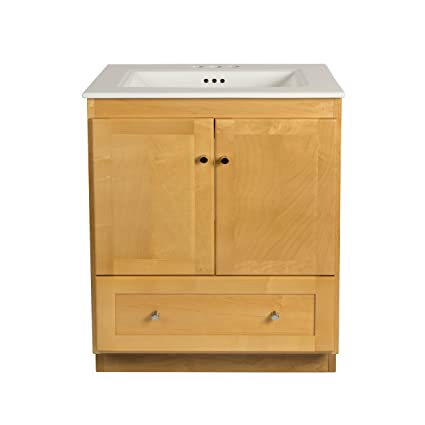 ronbow shaker 30 inch bathroom vanity set in maple wood cabinet rh amazon com maple bathroom vanity 48 maple bathroom vanity cabinets