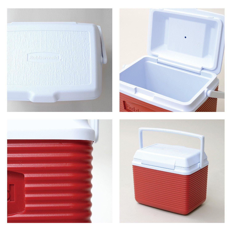 amazon com rubbermaid cooler ice chest 10 quart blue kitchen