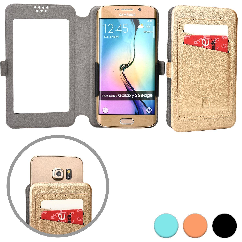 "Amazon Cooper Cases TM Slider Pocket Universal 5"" Smartphone Wallet Case in Gold Cell Phones & Accessories"