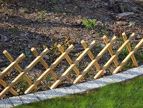 Steccato Estensibile Giardino : Kena staccionata in legno da giardino recinto beet umrandung x