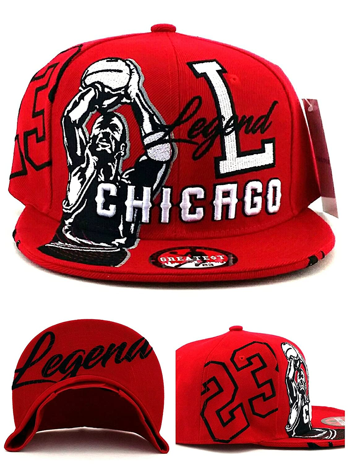 Gorra Chicago New Legend de la más grande 23 MJ: Jordan Bulls ...