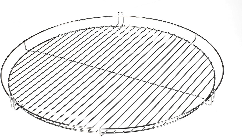 HeRo24 (R) Grille de cuisson pour barbecue Grille ronde chromée de 50cm