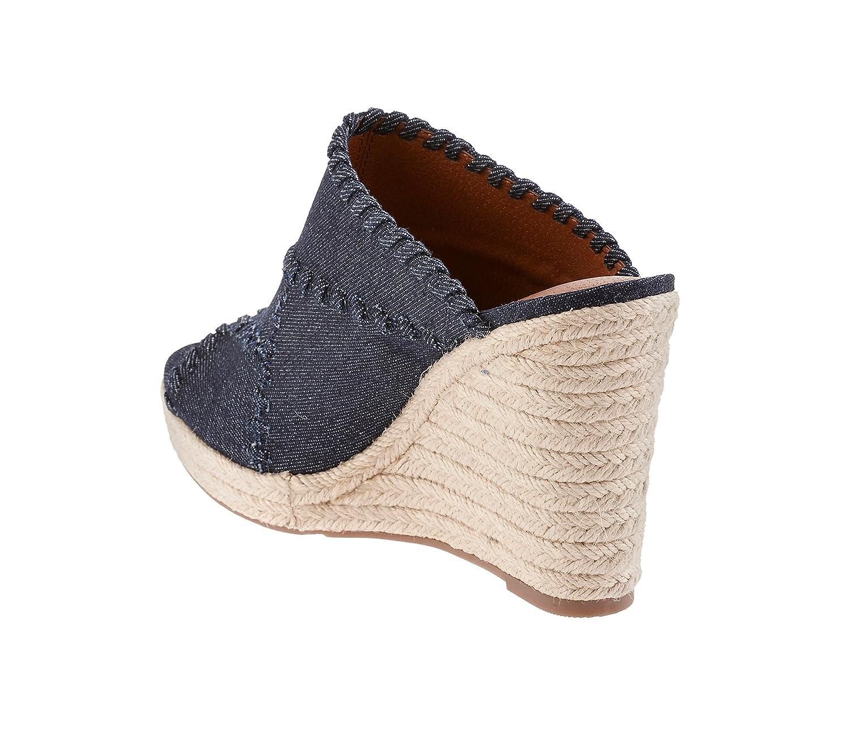 Ruff Hewn Caruso Wedge Espadrille Sandals B06XGQS6LY 9.5 B(M) US Denim Blue