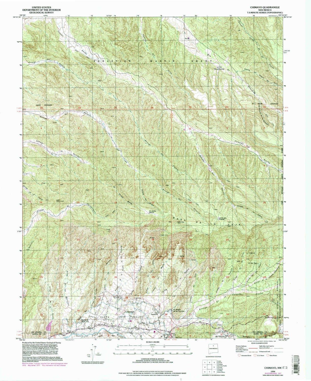 Amazon Com Yellowmaps Chimayo Nm Topo Map 1 24000 Scale 7 5 X
