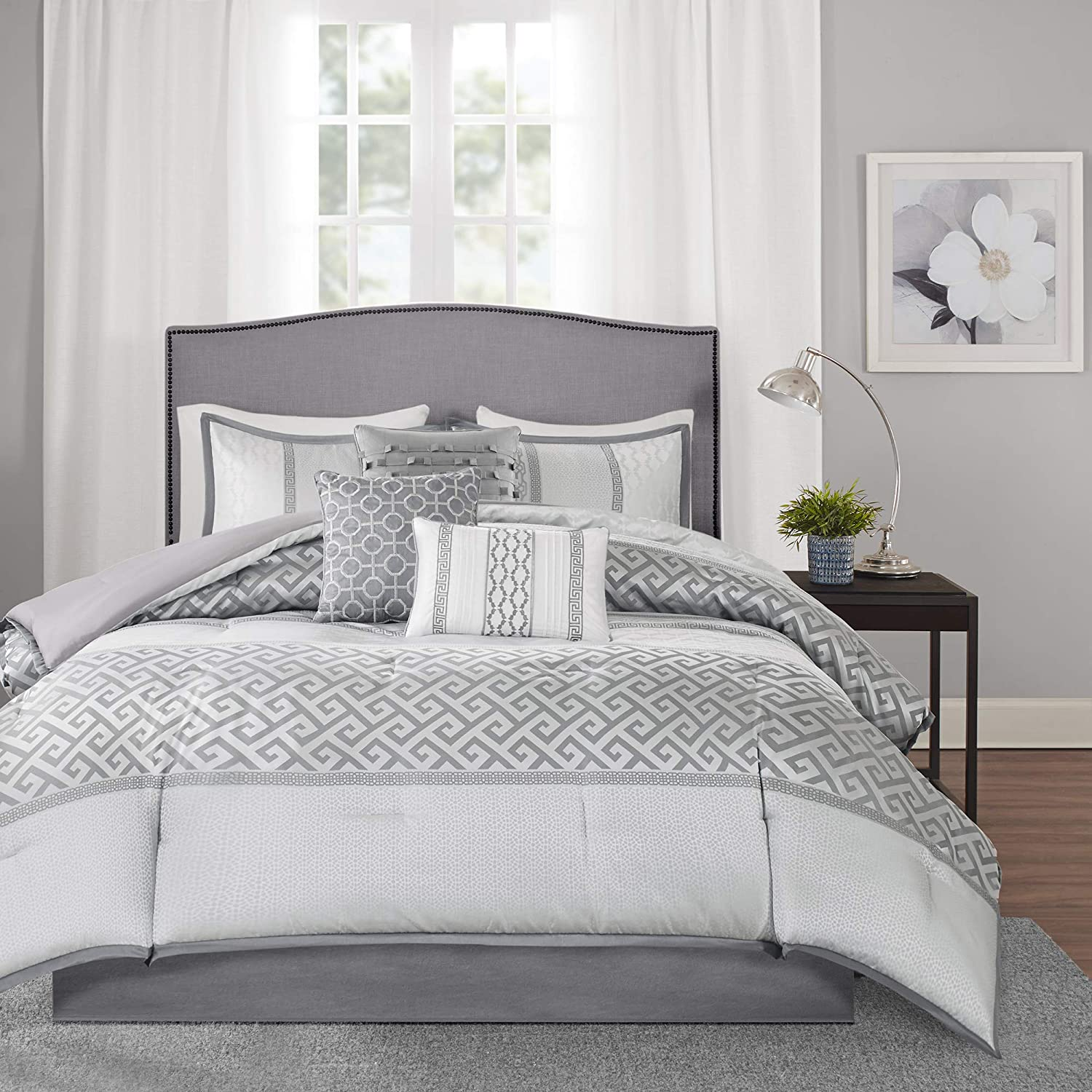 Amazon.com: Madison Park Luxury Comforter Set Traditional Jacquard