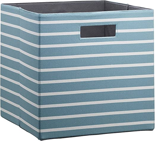 Gray 13x13x13 inch Collapsible Resistant Basket Box Organizer for Shelves Closet Toys and More Foldable Fabric Storage Cube Bins with Cotton Rope Handle Set of 3 EZOWare