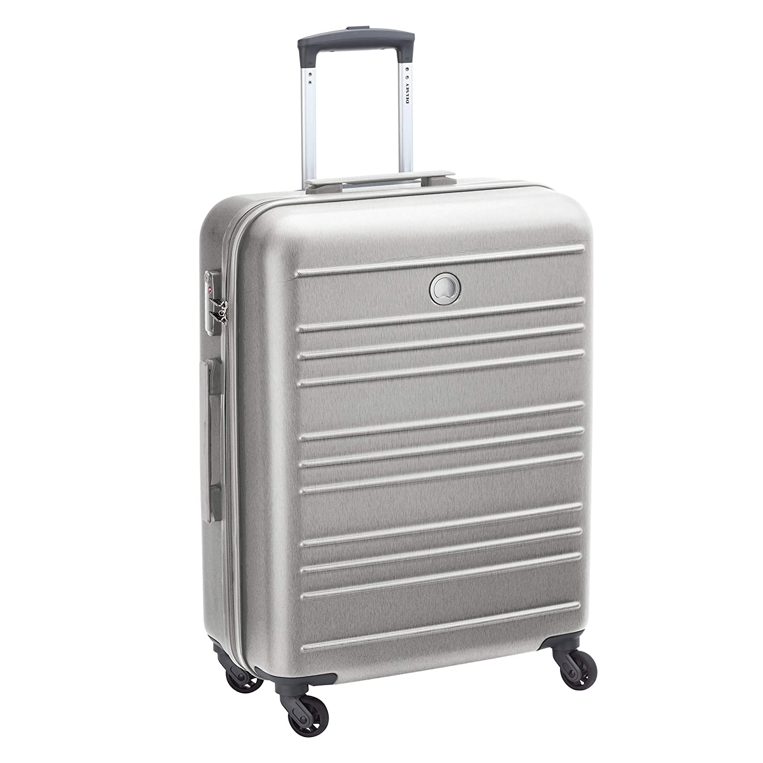 Delsey ABS 66 cms Silver Hardsided Cabin Luggage (00344581021)