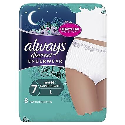 Always discreto Super Culottes para adultos (talla L 8 retiennent los olores/la humedad