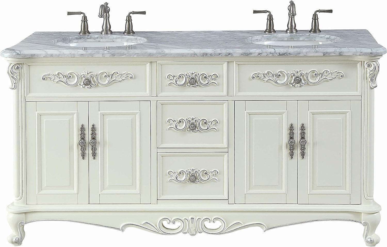 48 Inch Bath Vanity, Amazon Com 64 Benton Collection Verondia Vintage Style Vanilla Beige Bathroom Vanity Cf 5364 64 Kitchen Dining